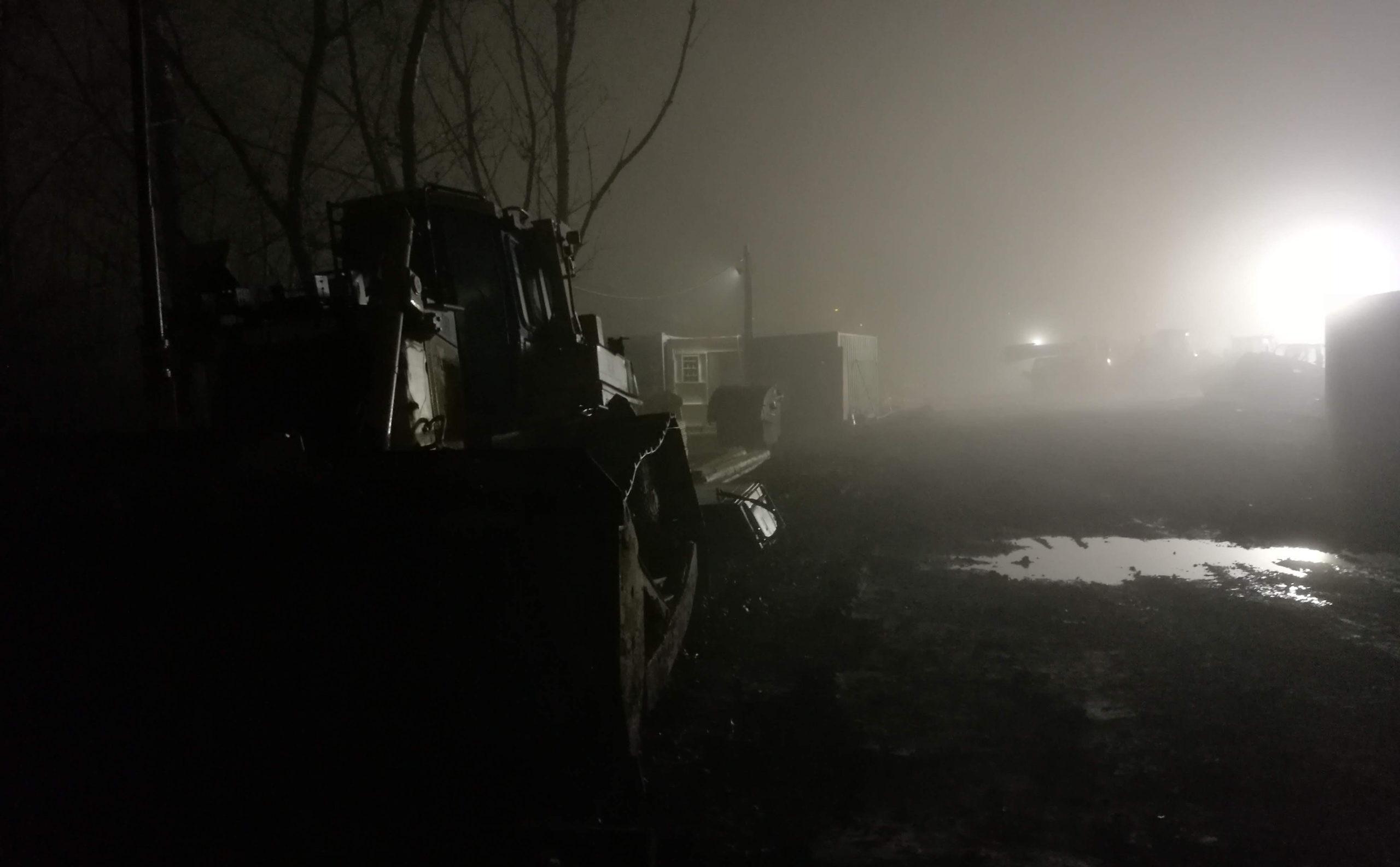 Mlha ve Starém Lískovci
